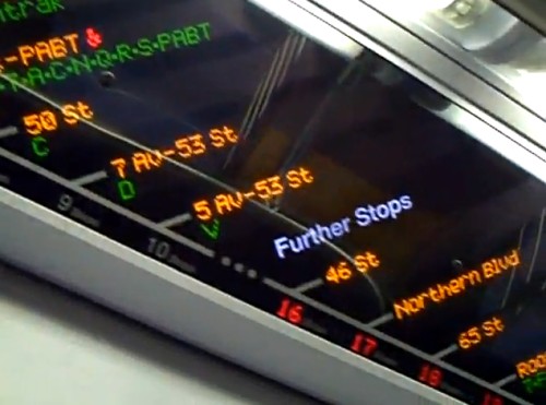"R160 train ""FIND"" displays: great engineering and design"